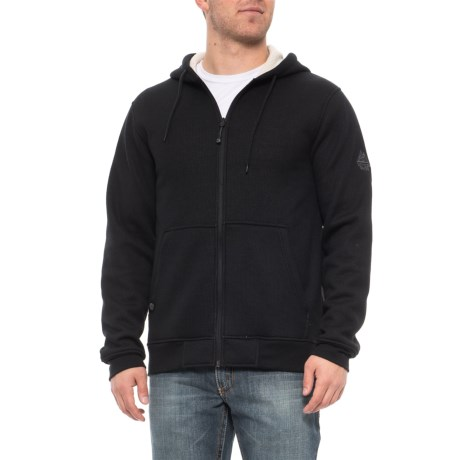 Image of Cirus Sherpa-Lined Waffle-Knit Hoodie - Full Zip (For Men)
