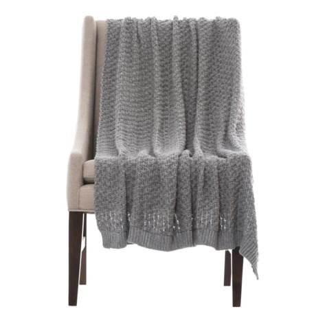 "City Chic Honeycomb Throw Blanket - 50x60"" in Grey"