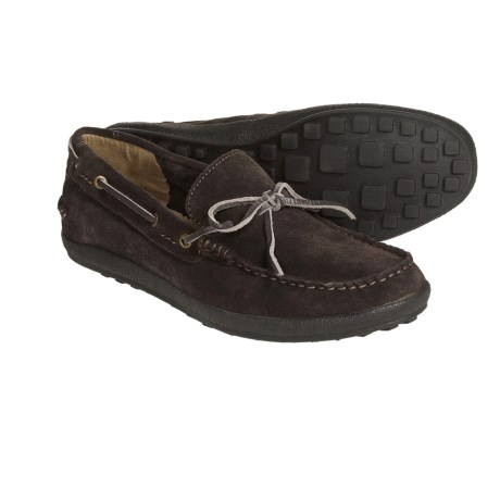 CK Jeans Gabe Moccasins - Suede Leather (For Men) in Dark Brown Brushed Suede