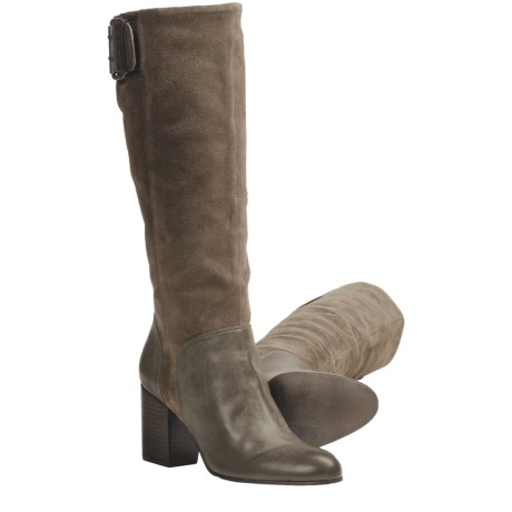 CK Jeans Gemma Tall Leather Boots (For Women) in Taupe