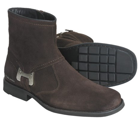 CK Jeans Roger Boots - Suede (For Men) in Dark Brown Suede