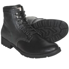 CK Jeans Trevor Boots - Lace-Ups (For Men) in Black/Black Canvas/Leather - Closeouts