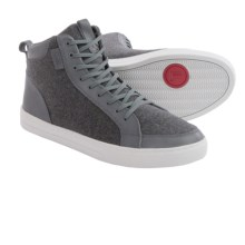 Clae Russel 07 Sneakers (For Men) in Charcoal Leather Wool - Closeouts