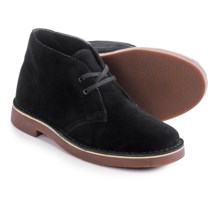 Clarks Acre Bridge Ankle Boots - Suede (For Women) in Black Suede - Closeouts