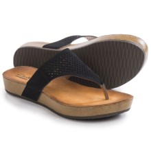 Clarks Aeron Logan Sandals - Leather (For Women) in Black Leather - Closeouts