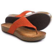 Clarks Aeron Logan Sandals - Leather (For Women) in Grenadine Leather - Closeouts