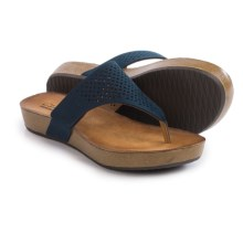 Clarks Aeron Logan Sandals - Leather (For Women) in Navy Leather - Closeouts