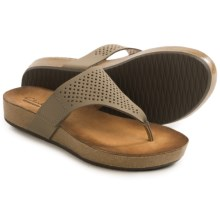 Clarks Aeron Logan Sandals - Leather (For Women) in Sage Leather - Closeouts