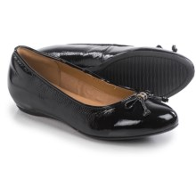 Clarks Alitay Giana Flats - Leather (For Women) in Black Patent - Closeouts