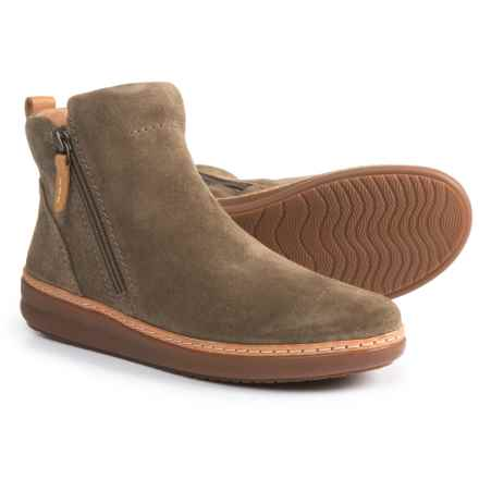 Clarks Amberlee Rosi Boots - Suede (For Women) in Olive - Closeouts