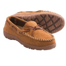Clarks Ankle Lace Moc Slippers - Suede (For Men) in Cinnamon Suede - Closeouts