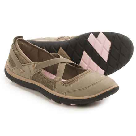 Clarks Aria Mary Jane Shoes - Leather (For Women) in Brown Leather - Closeouts