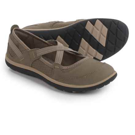 Clarks Aria Mary Jane Shoes - Leather (For Women) in Sage - Closeouts