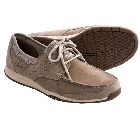 Clarks Armada English Shoes - Leather-Mesh (For Men) in Brown