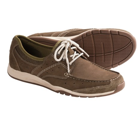 Clarks Armada English Shoes - Leather-Mesh (For Men) in Green