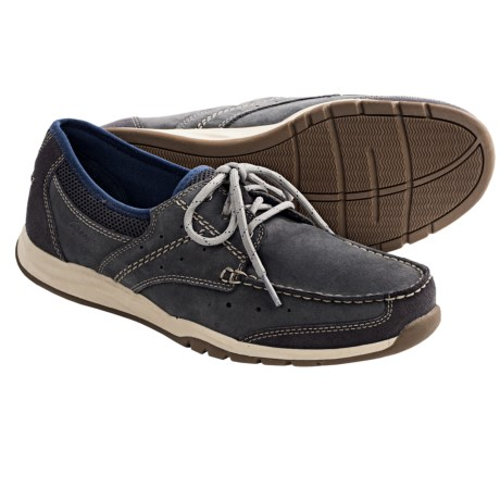 Clarks Armada English Shoes - Leather-Mesh (For Men) in Navy