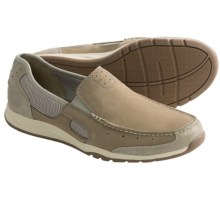 Clarks Armada Spanish Shoes - Mesh-Leather, Slip-Ons (For Men) in Beige Suede - Closeouts