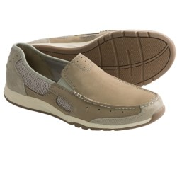 Clarks Armada Spanish Shoes - Mesh-Leather, Slip-Ons (For Men) in Beige Suede