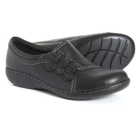Clarks Ashland Effie Shoes - Leather, Slip-Ons (For Women) in Black - Closeouts