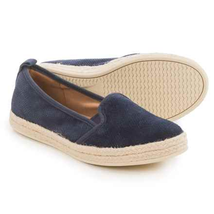 Clarks Azella Major Shoes - Suede, Slip-Ons (For Women) in Navy - Closeouts