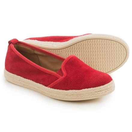 Clarks Azella Major Shoes - Suede, Slip-Ons (For Women) in Red - Closeouts