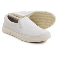 Clarks Ballof Step Shoes - Leather, Slip-Ons (For Men) in White Leather - Closeouts