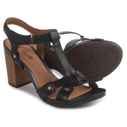 Clarks Banoy Valtina Sandals - Leather (For Women) in Black - Closeouts