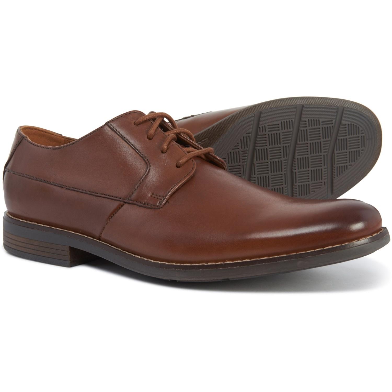 157b286f Clarks Becken Plain-Toe Derby Shoes - Leather (For Men)