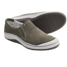 Clarks Bloodhound Shoes - Suede, Slip-Ons (For Men) in Olive Suede - Closeouts