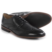Clarks Bostonian Gellar Wingtip Shoes - Leather (For Men) in Black - Closeouts