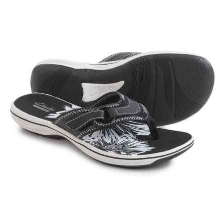 Clarks Breeze Mila Flip-Flops (For Women) in Black - Closeouts