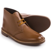 Clarks Bushacre 2 Chukka Boots - Leather (For Men) in Tan Leather - Closeouts