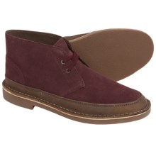 Clarks Bushacre Rand Chukka Boots - Leather (For Men) in Burgundy Suede - Closeouts