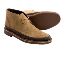 Clarks Bushacre Rand Chukka Boots - Leather (For Men) in Cognac Suede - Closeouts