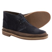 Clarks Bushacre Rand Chukka Boots - Leather (For Men) in Dark Navy Suede - Closeouts