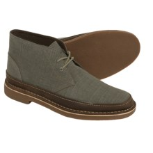 Clarks Bushacre Rand Chukka Boots - Leather (For Men) in Taupe Canvas - Closeouts