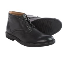 Clarks Bushwick Mid Boots - Leather (For Men) in Black Leather - Closeouts