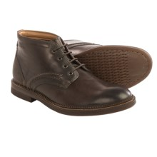 Clarks Bushwick Mid Boots - Leather (For Men) in Dark Brown Leather - Closeouts