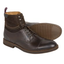 Clarks Bushwick Peak Boots - Leather-Suede (For Men) in Brown Leather - Closeouts