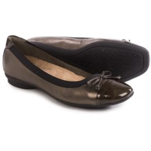 Clarks Candra Glow Ballet Flats - Leather (For Women) in Bronze - Closeouts