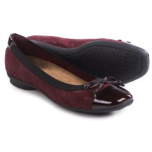 Clarks Candra Glow Ballet Flats - Leather (For Women) in Burgundy - Closeouts