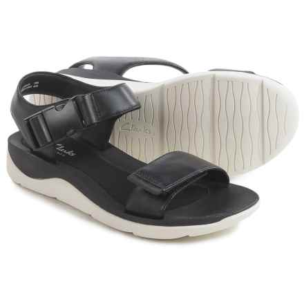 Clarks Caval Dixie Sandals - Leather (For Women) in Black Leather - Closeouts