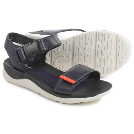 Clarks Caval Dixie Sandals - Leather (For Women) in Navy Leather - Closeouts