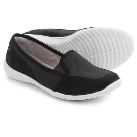 Clarks Charron Artic Shoes - Nubuck, Slip-Ons (For Women) in Black - Closeouts