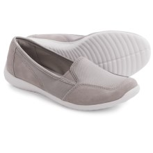 Clarks Charron Artic Shoes - Nubuck, Slip-Ons (For Women) in Grey - Closeouts