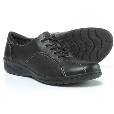 Clarks Cheyn Ava Shoes - Leather (For Women) in Black Leather