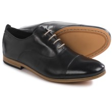 Clarks Chinley Cap-Toe Oxford Shoes - Leather (For Men) in Black Leather - Closeouts