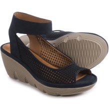 Clarks Clarene Prima Sandals (For Women) in Navy Nubuck - Closeouts