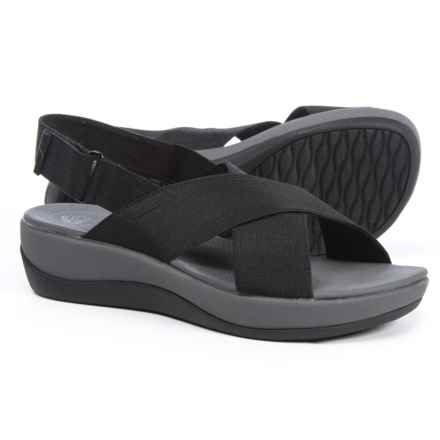 Clarks Cloudsteppers Arla Kaydin Sandals (For Women) in Black - Closeouts