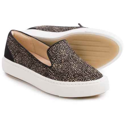 Clarks Coll Island Shoes - Leather, Slip-Ons (For Women) in Black/White - Closeouts